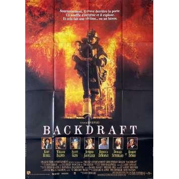 BACKDRAFT Original Movie Poster - 47x63 in. - 1991 - Ron Howard, Kurt Russel