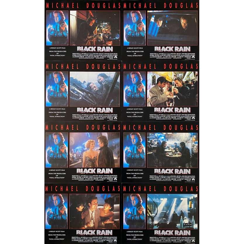 BLACK RAIN Original Lobby Cards - 11x14 in. - 1989 - Ridley Scott, Michael Douglas