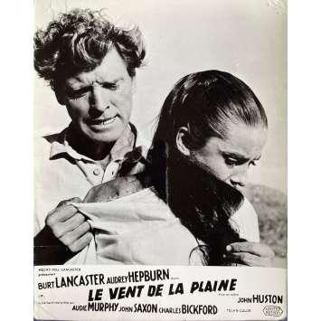 THE UNFORGIVEN Original Lobby Card N01 - 10x12 in. - 1960 - John Huston, Burt Lancaster, Audrey Hepburn