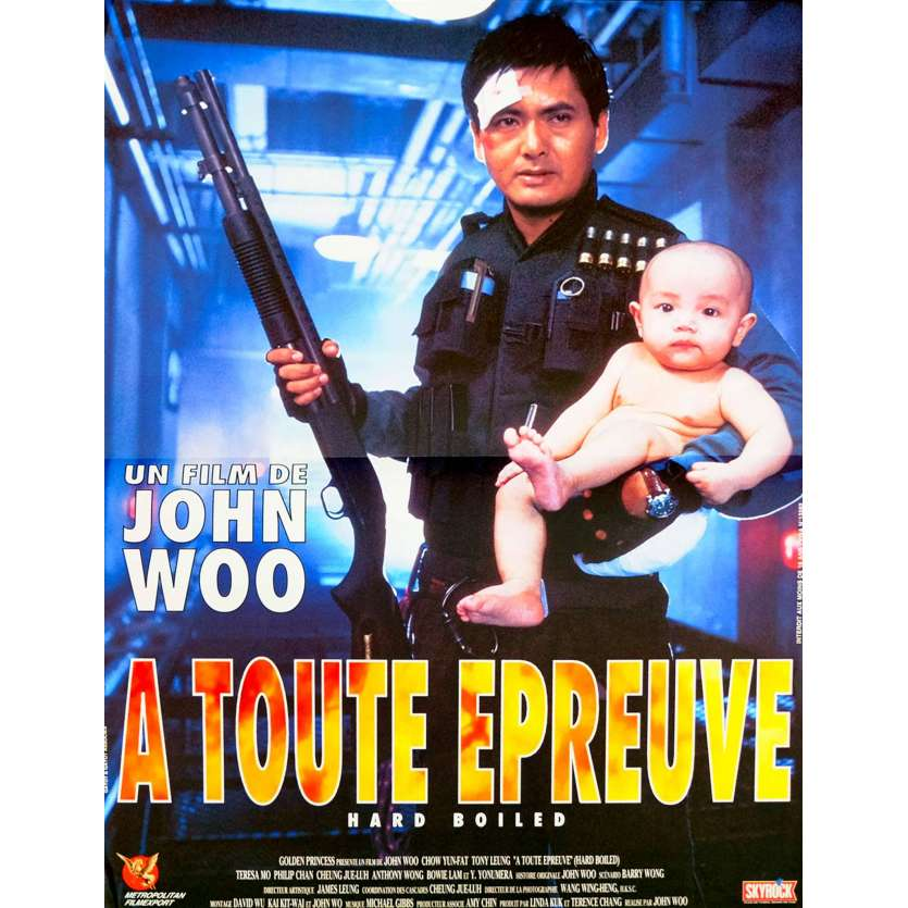 HARD BOILED French Movie Poster 15x21 - 1992 - John Woo, Chow Yun-fat