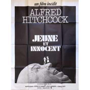 JEUNE ET INNOCENT Affiche de film - 120x160 cm. - R1970 - Nova Pilbeam, Alfred Hitchcock