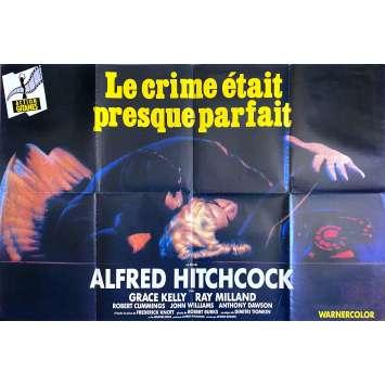 LE CRIME ETAIT PRESQUE PARFAIT Affiche de film - 120x160 cm. - R1970 - Grace Kelly, Alfred Hitchcock