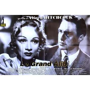 LE GRAND ALIBI Affiche de film - 80x120 cm. - R1970 - Marlene Dietrich, Alfred Hitchcock