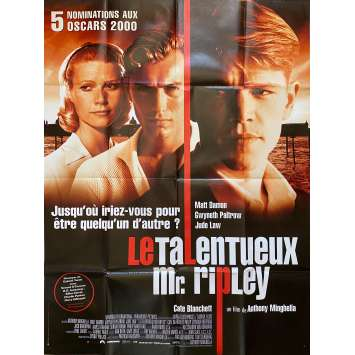 THE TALENTED MR.RIPLEY Original Movie Poster - 47x63 in. - 1999 - Anthony Minghella, Matt Damon