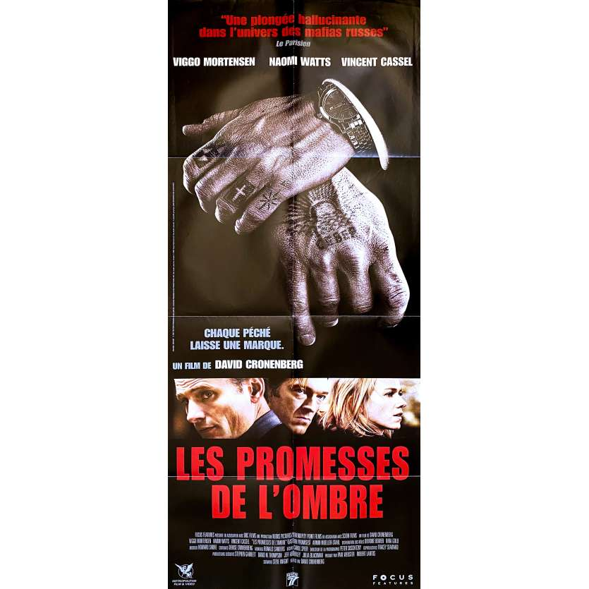 EASTERN PROMISES Original Movie Poster - 23x63 in. - 2007 - David Cronenberg, Viggo Mortensen