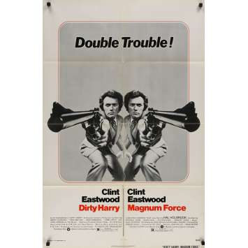 DIRTY HARRY / MAGNUM FORCE Original Movie Poster - 27x40 in. - 1973 - Don Siegel, Clint Eastwood