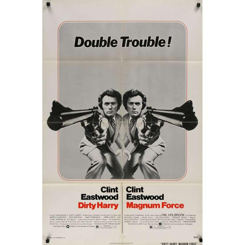 L'INSPECTEUR HARRY / MAGNUM FORCE Affiche de film - 69x102 cm. - 1973 - Clint Eastwood, Don Siegel
