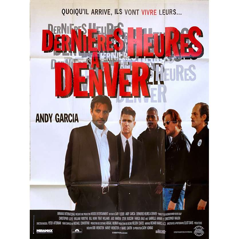 THINGS TO DO IN DENVER WHEN YOU'RE DEAD Original Movie Poster - 47x63 in. - 1995 - Gary Fleder, Andy Garcia
