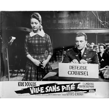 LA VILLE SANS PITIE Photo de film N1 - 24x30 cm. - 1961 - Kirk Douglas, Gottfried Reinhardt