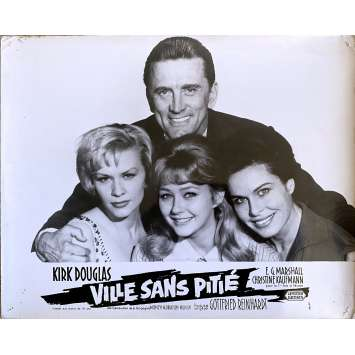 LA VILLE SANS PITIE Photo de film N2 - 24x30 cm. - 1961 - Kirk Douglas, Gottfried Reinhardt