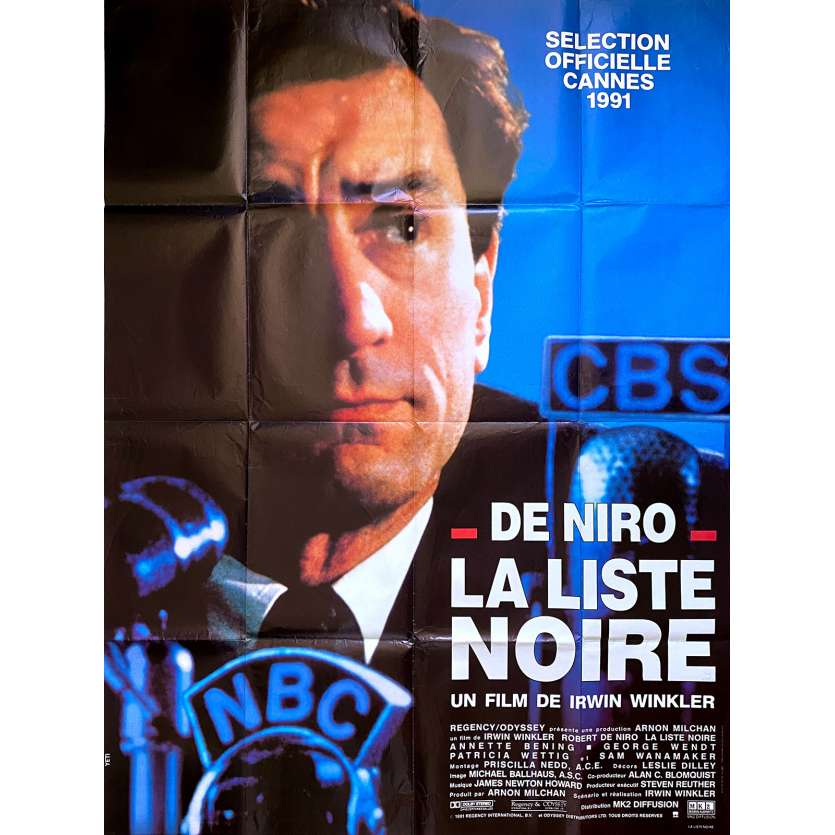 GUILTY BY SUSPICION Original Movie Poster - 47x63 in. - 1991 - Irwin Winkler, Robert de Niro