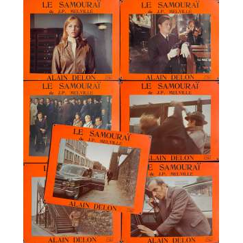 LE SAMOURAI Photos de film x7 - 35x44 cm. - 1967 - Alain Delon, Jean-Pierre Melville
