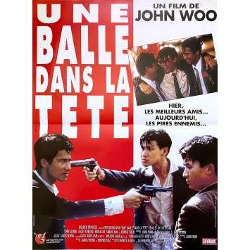 UNE BALLE DANS LA TETE Affiche de film - 40x60 cm. - 1990 - Tony Chiu-Wai Leung, John Woo