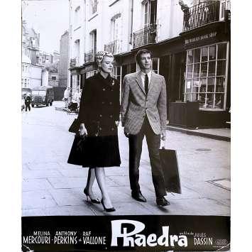 PHAEDRA Original Lobby Card N2 - 10x12 in. - 1962 - Jules Dassin, Melina Mercouri, Anthony Perkins