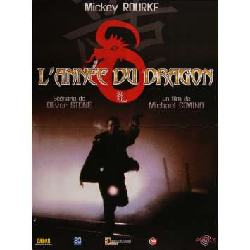 L'ANNEE DU DRAGON Affiche de film - 60x80 cm. - R1990 - Mickey Rourke, Michael Cimino