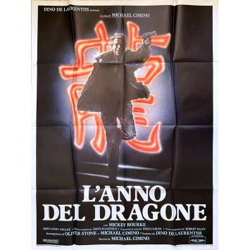 YEAR OF THE DRAGON Original Movie Poster - 39x55 in. - 1985 - Michael Cimino, Mickey Rourke