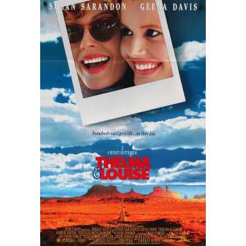 THELMA AND LOUISE Original Movie Poster - 27x40 in. - 1991 - Ridley Scott, Geena Davis