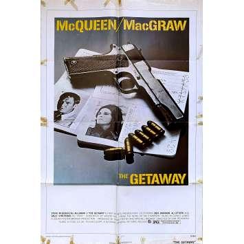 THE GETAWAY Original Movie Poster - 27x40 in. - 1972 - Sam Peckinpah, Steve McQueen
