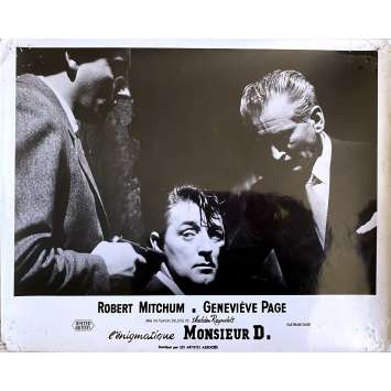 L'ENIGMATIQUE MONSIEUR D. Photo de film N1 - 24x30 cm. - 1956 - Robert Mitchum, Sheldon Reynolds