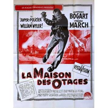 LA MAISON DES OTAGES Affiche de film - 120x160 cm. - 1955 - Humphrey Bogart, William Wyler