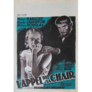 UNE SOIREE ETRANGE Affiche de film - 35x55 cm. - R1950 - Anthony Hinds, James Whale