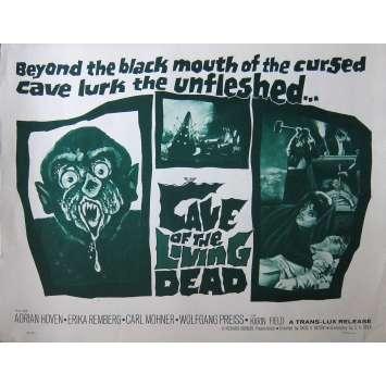 LA NUIT DES VAMPIRES Affiche de film - 55x71 cm. - 1964 - Adrian Hoven, Ákos Ráthonyi
