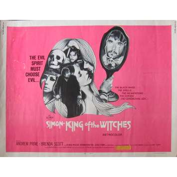 SIMON KING OF THE WITCHES Original Movie Poster - 21x28 in. - 1971 - Bruce Kessler, Andrew Prine