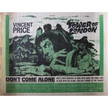 LA TOUR DE LONDRES Affiche de film - 55x71 cm. - 1962 - Vincent Price, Roger Corman