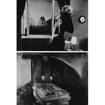 NOSFERATU (1922) Photo de presse x2 - 13x18 cm. - R1960 - Max Schreck, F.W. Murnau