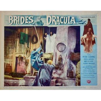 BRIDES OF DRACULA Original Lobby Card - 11x14 in. - 1960 - Terence Fisher, Peter Cushing