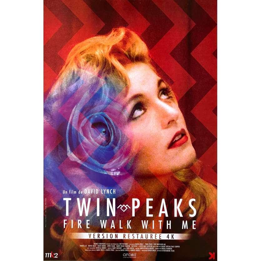 TWIN PEAKS Original Movie Poster - 15x23 in. - R2010 - David Lynch, Sheryl Lee