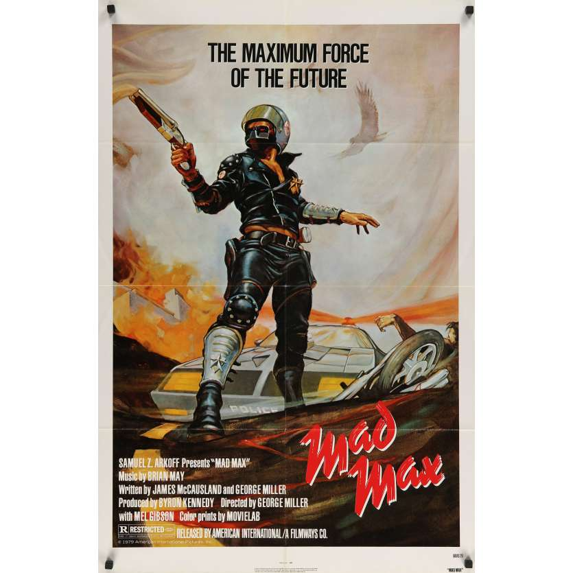 MAD MAX Original Movie Poster - 27x41 in. - R1983 - George Miller, Mel Gibson