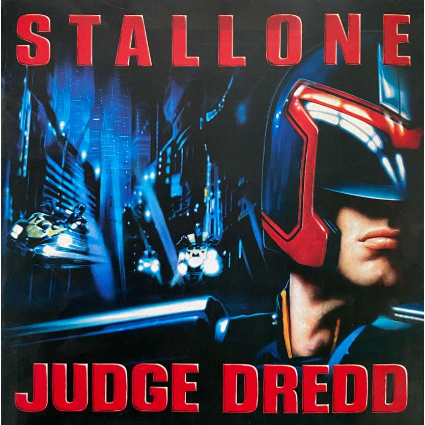 JUDGE DREDD Original Program - 6x6 in. - 1995 - Danny Cannon, Sylvester Stallone