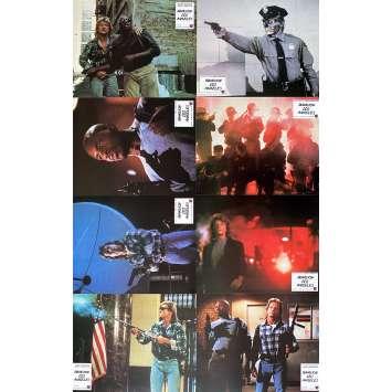 THEY LIVE Original Lobby Cards x8 - 9x12 in. - 1988 - John Carpenter, Roddy Piper