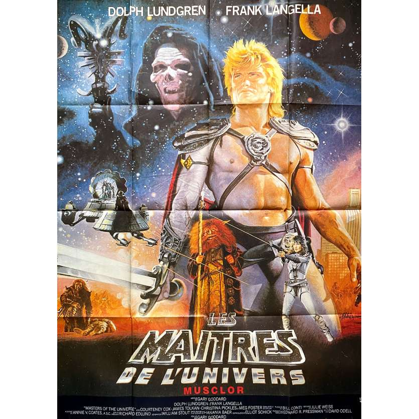 LES MAITRES DE L'UNIVERS Affiche de film - 120x160 cm. - 1987 - Dolph Lundgren, Gary Goddard