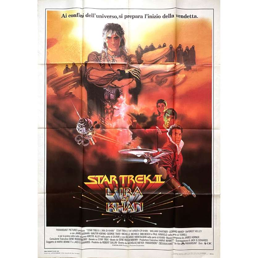 STAR TREK II THE WRATH OF KHAN Original Movie Poster - 39x55 in. - 1982 - Nicholas Meyer, Leonard Nimoy