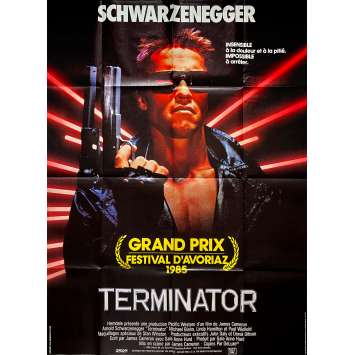 TERMINATOR Affiche de film - 120x160 cm. - 1983 - Arnold Schwarzenegger, James Cameron