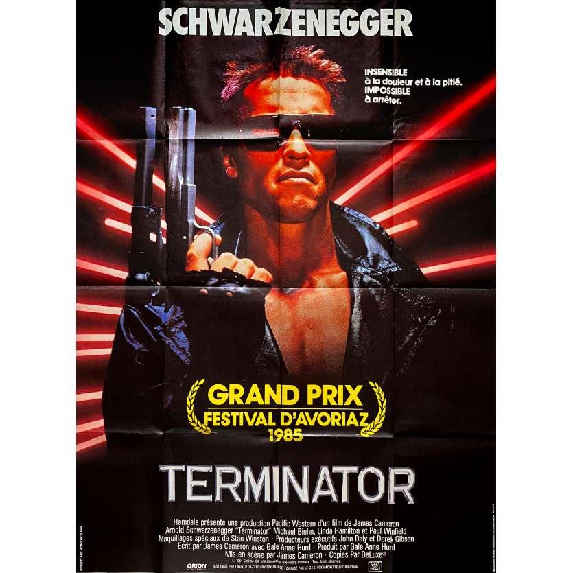 TERMINATOR Original Movie Poster - 47x63 in. - 1983 - James Cameron, Arnold Schwarzenegger