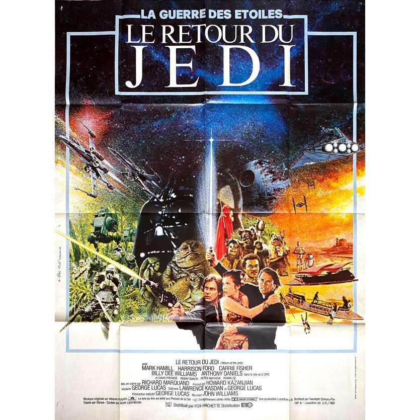 STAR WARS - LE RETOUR DU JEDI Affiche de film - 120x160 cm. - 1983 - Harrison Ford, Richard Marquand