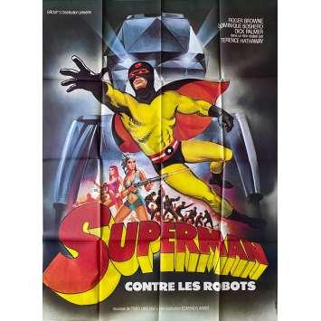 SUPERMAN CONTRE LES ROBOTS Affiche de film - 120x160 cm. - 1967 - Roger Browne, Sergio Grieco