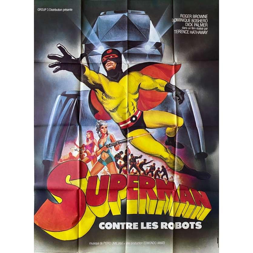 ARGOMAN THE FANTASTIC SUPERMAN Original Movie Poster - 47x63 in. - 1967 - Sergio Grieco, Roger Browne