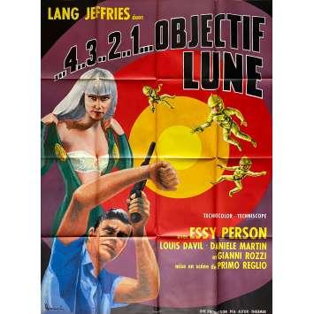 4, 3, 2, 1, OBJECTIF LUNE Affiche de film - 120x160 cm. - 1967 - Lang Jeffries, Primo Zeglio