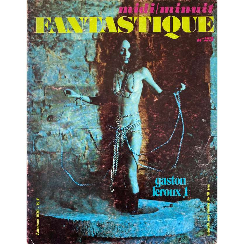 MIDI MINUIT FANTASTIQUE N23 Original Magazine - 9x12 in. - 1970 - Gaston Leroux, Bela Lugosi
