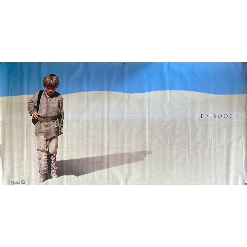 STAR WARS - THE PHANTOM MENACE Original Vinyl Banner - 93x47 in. - 1999 - George Lucas, Ewan McGregor