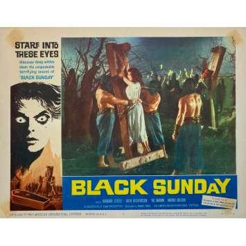 BLACK Sunday Original Lobby Card - 11x14 in. - 1960 - Mario Bava, Barbara Steele