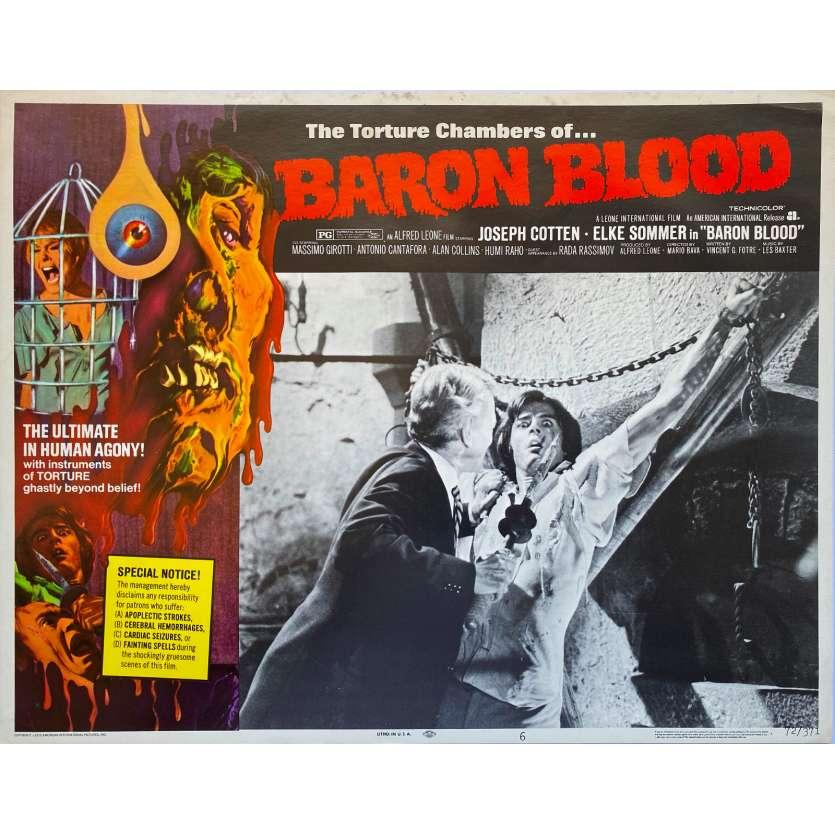 BARON VAMPIRE Photo de film - 28x36 cm. - 1972 - Joseph Cotten, Mario Bava