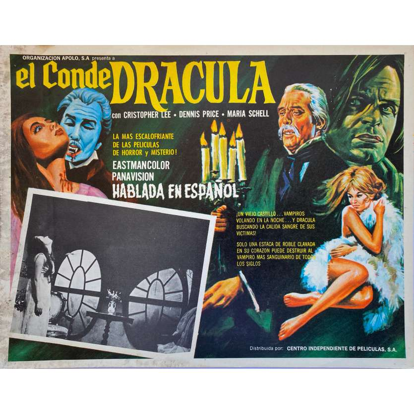 COUNT DRACULA Original Lobby Card - 11x14 in. - 1970 - Jess Franco, Christopher Lee