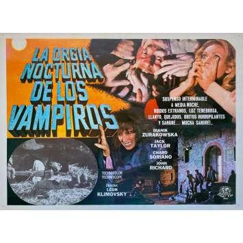 THE VAMPIRES NIGHT ORGY Original Lobby Card - 11x14 in. - 1973 - León Klimovsky, Jack Taylor