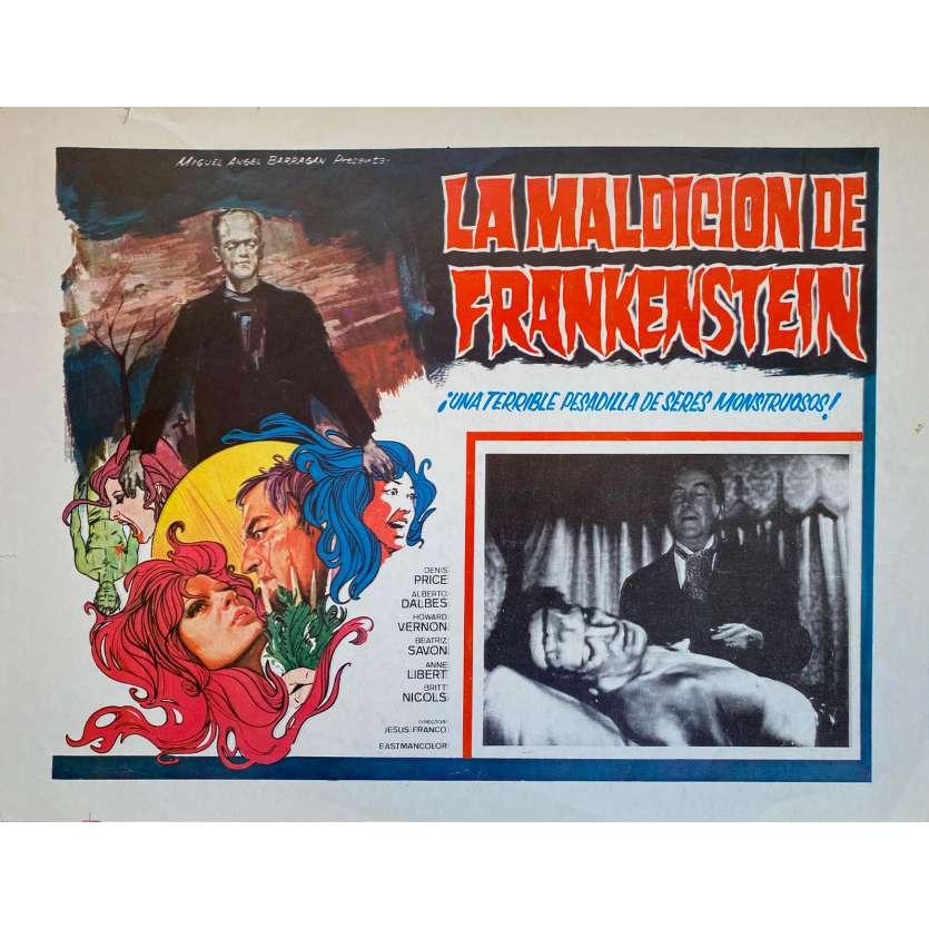 THE RITES OF FRANKENSTEIN Original Lobby Card - 11x14 in. - 1973 - Jesus Franco, Alberto Dalbes