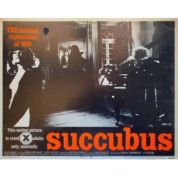 SUCCUBUS Original Lobby Card N2 - 11x14 in. - 1968 - Jesús Franco, Janine Reynaud